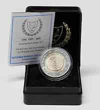Zypern : 2 Euro 10 Jahre Euro inkl. Originaletui und Zertifikat  2009 Stgl. 2 Euro Zypern 2009