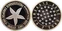 Slowenien : 3 Euro EU-Ratspräsidentschaft  2008 PP 3 Euro Slowenien 2008 PP / polierte Platte