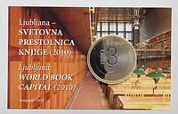 Slowenien : 3 Euro Ljubljana - UNESCO Weltbuchhauptstadt in Coincard  2010 bfr