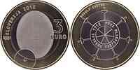 Slowenien : 3 Euro 100. Jahrestag der ersten slowenischen Olympia-Medaille  2012 Stgl.