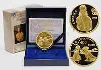 Spanien : 400 Euro Galarina / Tristan und Isolde inkl. Originaletui und Zertifikat 2009 PP