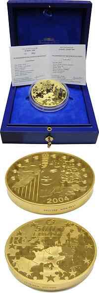 Frankreich 500 Euro Europa-Münze 1KG Gold 2004 PP