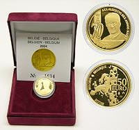Belgien 50 Euro 70. Geburtstag Albert II. 2004 PP