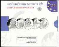 Deutschland : 50 Euro 5x 10 Euro - Ausgaben aus Deutschland des Jahres 2006 (Mozart, Fußball, Schinkel, Dresden, Städtehanse)  2006 PP