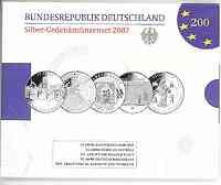 Deutschland : 50 Euro 5x 10 Euro - Ausgaben aus Deutschland des Jahres 2007 (Saarland, Römische Verträge, Busch, Bundesbank, Elisabeth von Thüringen)  2007 PP