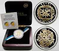 """Finnland : 50 Euro """"125 Jahre finnische Goldmünzen"""" Bi-Metall-Münze Gold/Silber inkl. Originaletui und Zertifikat  2003 PP"""