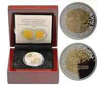 Finnland : 50 Euro EU - Präsidentschaft (Gold / Silber)  inkl. Originaletui und Zertifikat  2006 PP 50 Euro Finnland 2006; Finnland Bimetall