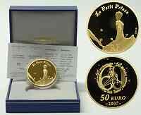 Frankreich : 50 Euro Der kleine Prinz auf seinem Planeten inkl. Originaletui und Zertifikat  2007 PP 50 Euro Kleiner Prinz