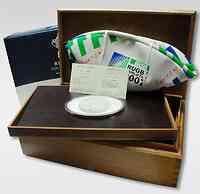 Frankreich : 50 Euro Rugby WM inkl. Originalkassete aus Holz und Zertifikat - mit Rugby-Ball  2007 PP 50 Euro Rugby 2007