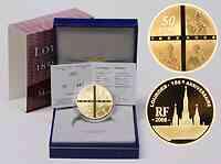 Frankreich : 50 Euro Lourdes inkl. Originaletui und Zertifikat  2008 PP 50 Euro Lourdes