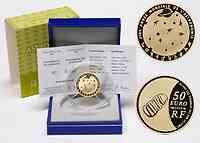 Frankreich : 50 Euro Astronomie inkl. Originaletui und Zertifikat  2009 PP