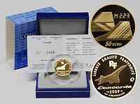 Frankreich : 50 Euro Concorde inkl. Originaletui und Zertifikat  2009 PP 50 Euro Concorde