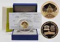 Frankreich : 50 Euro Taj Mahal Indien inkl. Originaletui und Zertifikat  2010 PP
