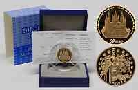 Frankreich : 50 Euro Abtei Cluny inkl. Originaletui und Zertifikat  2010 PP