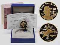 Frankreich : 50 Euro Marcel Dassault inkl. Originaletui und Zertifikat 2010 PP