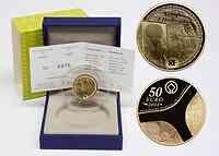 Frankreich 50 Euro Pyramide, Sphinx, Abu Simbel 2012 PP Gold