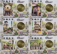 San Marino 50 Cent Set: 6x50 Cent + 65ct Briefmarke 2012 Stgl.