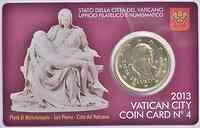 Vatikan : 50 Cent Benedikt  2013 Stgl.