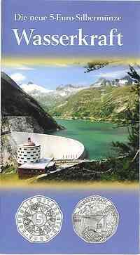 Österreich : 5 Euro Wasserkraft  2003 Stgl.