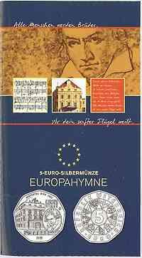 Österreich : 5 Euro Europahymne von Beethoven  2005 Stgl.