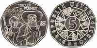Österreich : 5 Euro Tiroler Freiheit 2009 Stgl.