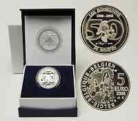 Belgien 5 Euro Die Schlümpfe 2008 PP
