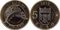 Finnland : 5 Euro Varsinais-Suomi  2010 Stgl.