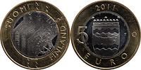 Finnland : 5 Euro Uusimaa  2011 Stgl.