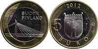 Finnland : 5 Euro Kerzenbrücke  2012 Stgl.