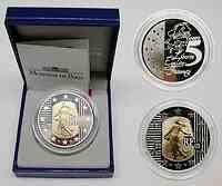 """Frankreich : 5 Euro """"Die Säerin"""", inkl. Originaletui und Zertifikat - Bi-Metall-Münze Gold/Silber  2003 PP"""
