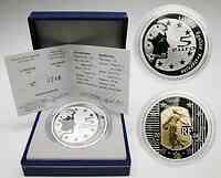 Frankreich : 5 Euro Die Säerin, inkl. Originaletui und Zertifikat - Bi-Metall-Münze Gold/Silber 2004 PP