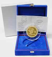 Frankreich : 5 Euro Chanel inkl. Originaletui und Zertifikat  2008 PP 5 Euro Gold Chanel