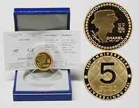 Frankreich : 5 Euro Chanel inkl. Originaletui und Zertifikat  2008 PP 5 Euro Chanel Gold 1/4 Unze