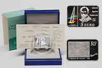 Frankreich : 5 Euro Renoir inkl. Originaletui und Zertifikat  2009 Stgl.