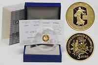 Frankreich : 5 Euro 50. Geburtstag des neuen Francs 1960 inkl. Originaletui und Zertifikat  2010 PP