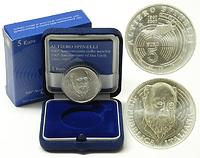 Italien : 5 Euro Alterio Spinelli inkl. Originaletui und Zertifikat  2007 Stgl.
