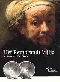 Niederlande 5 Euro Rembrandt 2006 PP