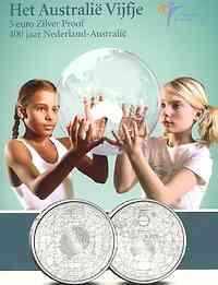 Niederlande 5 Euro 400 Jahre Niederländisch - Australische Beziehungen 2006 PP