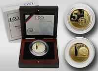 Portugal 5 Euro 150 Jahre Briefmarke 2003 PP
