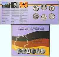 Deutschland : 60 Euro 6x 10 Euro - Ausgaben aus Deutschland des Jahres 2003 (Deutsches Museum, 17. Juni, Fußball WM, Ruhrgebiet, Liebig, Semper)  2003 PP