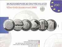 Deutschland : 60 Euro 6x 10 Euro - Ausgaben aus Deutschland des Jahres 2005 (Fußball WM, Bayerischer Wald, Schiller, Einstein, Magdeburg, Suttner)  2005 PP