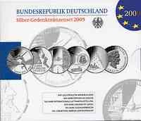 Deutschland : 60 Euro 6 x 10 Euro  Ausgaben aus Deutschland des Jahres 2009 (Leichtathletik WM, Kepler, Luftfahrtausstellung, Uni Leipzig, Jugendherbergen, Dönhoff)  2009 PP