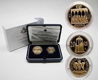"San Marino : 70 Euro Set: 20 Euro ""Präsentation Jesuskind im Tempel"" + 50 Euro ""Pfingsten / Pentecoste""  inkl. Originaletuis und Zertifikaten  2003 PP"