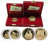 """Vatikan : 70 Euro Am Wurzelgrund des Glaubens - 20 Euro :David und Goliath + 50 Euro """"Das Salomonische Urteil""""  2004 PP"""