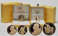 Vatikan : 70 Euro Set: 20 + 50 Euro Meisterwerke der Bildhauerkunst : Der gute Hirte und Laokoongruppe  2009 PP