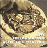 Belgien : 3,88 Euro Adieu Frank im Originalblister 2002 Stgl.
