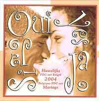 Belgien : 3,88 Euro original KMS Hochzeit aus Belgien  2004 bfr