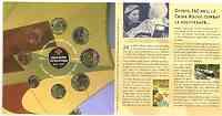 """Belgien : 3,88 Euro original Kursmünzensatz der belgischen Münze """"Rotes Kreuz"""" Variante mit farbigem Kreuz (nur 2000 Stück!)  2004 bfr"""
