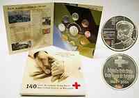 """Belgien 3,88 Euro original KMS der belgischen Münze """"Rotes Kreuz"""" 2004"""