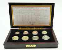 Belgien : 3,88 Euro original Kursmünzensatz der belgischen Münze - in Holzkassette  2006 PP KMS Belgien 2006 PP